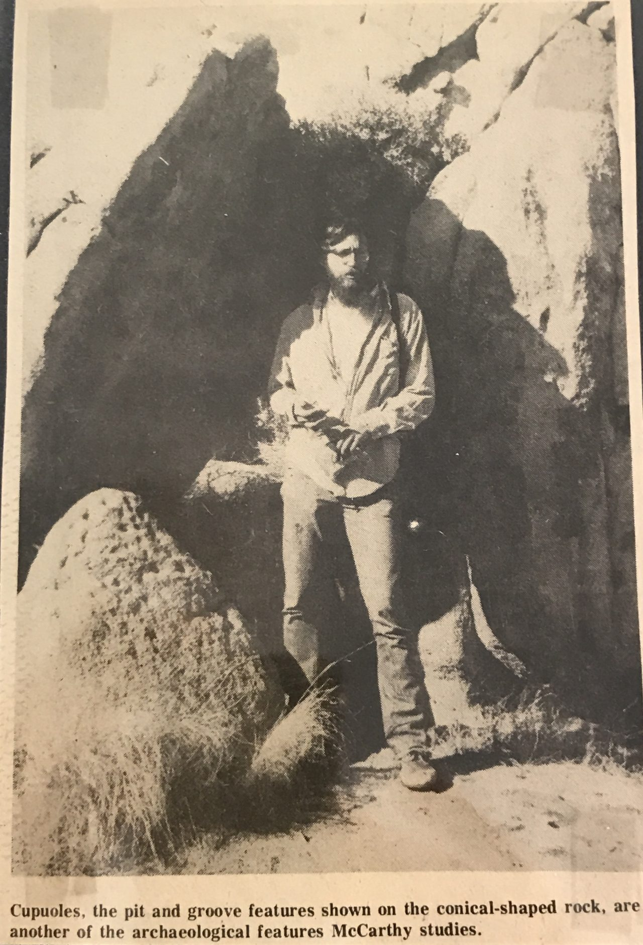 A newspaper clipping (photo)from 40 years ago featuring Daniel McCarthy